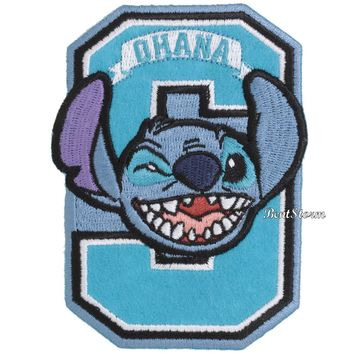Licensed cool Disney Lilo & Stitch OHANA LETTER Embroidered IRON ON Patch Badge Loungefly NWT