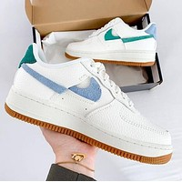 Samplefine2 Nike Air Force 1 Broken Hook Fashion Women Men Casual Sport Running Shoes Sneakers