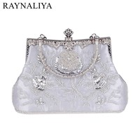 High Quality Handbags Women Famous Brands For Wedding Party Evening Bags Small Purse Full Rhinestones Bags SMYXST-F0135