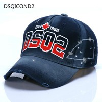 DSQ Mens Caps, European and American Caps, European and American Baseball Caps, Mens and Womens Outdoor Hats, Letters and Hats
