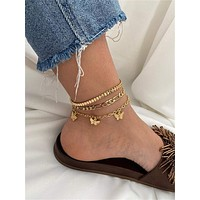 3pcs Butterfly Charm Anklet