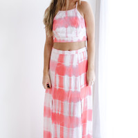 Myrtle Beach Two- Piece Tye Dye Maxi Dress