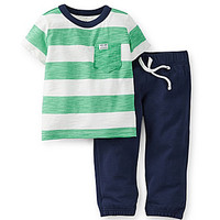 Carter's Newborn-24 Months Striped Tee & Solid Pant Set - Stripe