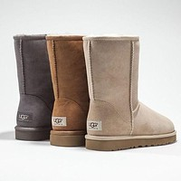 UGG Classic Boots Wool Fur Boots Half Boots Shoes-3