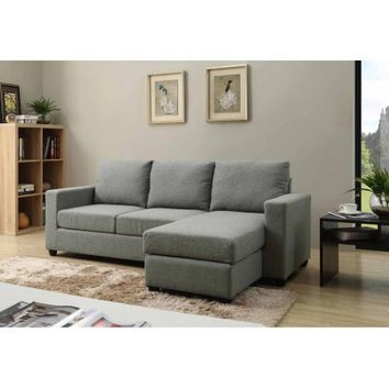 Nathaniel Home Alexandra Small Space Convertible Sectional, Multiple Colors - Walmart.com