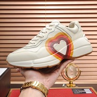Gucci Women Men Fashion Boots fashionable Casual leather Breathable Sneakers Running Shoes Sneakers