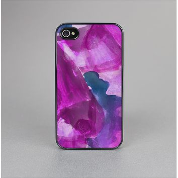 The Grunge Watercolor Pink Strokes Skin-Sert for the Apple iPhone 4-4s Skin-Sert Case