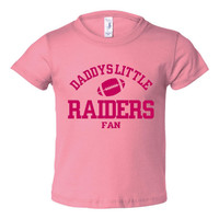 Daddys Little Raiders Fan Toddler And Youth T-Shirt Oakland Fans Printed Tee for Kids Creepers & T-Shirts. Makes a Great Gift!!