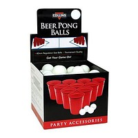 Beer pong ball display, 72 pack