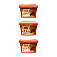 3-Pack Haechandle Gochujang Hot Chile Paste, Made in Korea (1.1 lbs x 3)