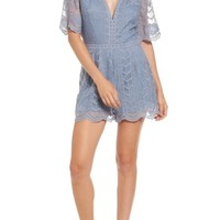 Socialite Plunging Lace Romper | Nordstrom