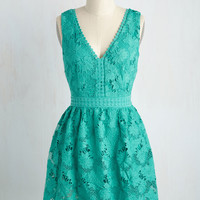 When I Groove, You Groove Dress in Jade | Mod Retro Vintage Dresses | ModCloth.com