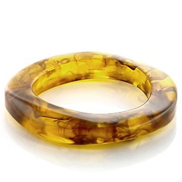 Bangle Charm Bracelets LO753 Plastic Bangle with Synthetic in Amber