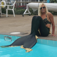 Adult mermaid tail custom fit your monofin  with rhinestones