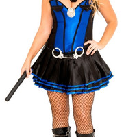 Plus Size Irresistible Officer Costume