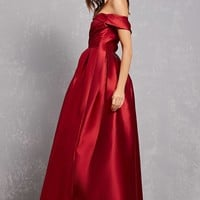 Satin Pleated Gown