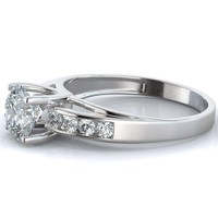2 Carat Brilliant Cut Engagement Ring Round Simulated Diamond  in 14K Solid Gold