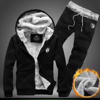 2017 men sweatshirt +pants top Selling casual Suits mens outerwear casual outfit  Autumn & winter mens clothing plus size 3XL