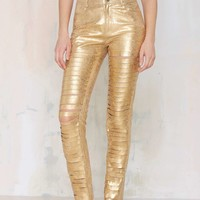 Missy Skins Anthony Slit Leather Pant