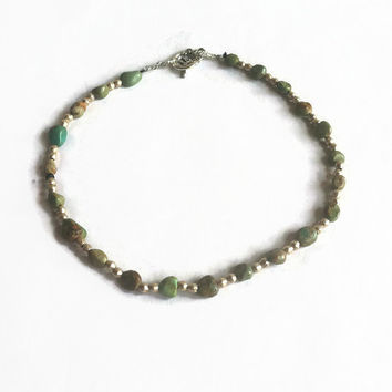 CoCo choker //  Turquoise and ethiopian silver necklace // spirittribe, statement, holiday, boho, bohemian