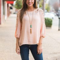 Forever Together Top, Peach