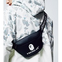 BAPE AAPE Fashion Men Women Canvas Purse Waist Bag Single-Shoulder Bag Crossbody