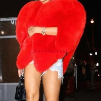 Heart Of A Queen Faux Fur Coat ( Ready to ship)