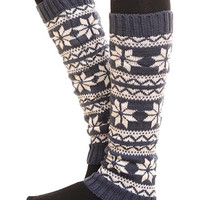 Snowflake Leg Warmers-Many Colors Available.  Save BIG on 8 Pair!  Great for Gifts.
