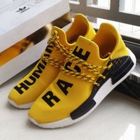 Adidas NMD Human Race Yellow Leisure Running Sports Shoes