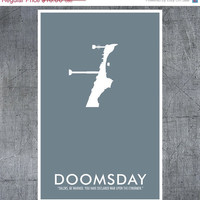 Doctor Who Poster Doomsday 11x17 Science Fiction Print by ModernStylographer