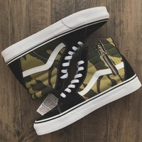 Trendsetter Sophnet x Vans Camouflage Sk8-hi ZIP Canvas Old Skool Flats Sneakers Sport Shoes