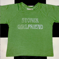 SWEET LORD O'MIGHTY! STONER GIRLFRIEND CROP TEE