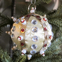Ornament Christmas Gold Ball Red Silver Pearl Gift Box Tree Decoration Holiday Decor Boxed Wrap Present Handmade Holidays Unique Friday Sale