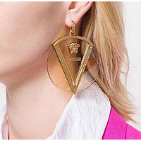 VERSACE Newest Popular Women Personality Transparent Pendant Earrings Jewelry