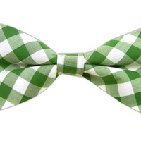 Cotton Table Plaid - Kelly Green (Bow Ties) from TheTieBar.com - Wear Your Good Tie Everyday