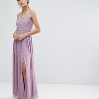 Frock and Frill Cami Maxi Dress with Star Embellishment and Split at asos.com