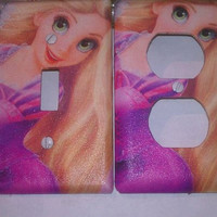 Tangled Repunzel Switch Plate and Outlet Cover by SwitchTheOutlet