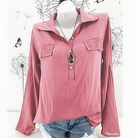fhotwinter19 new hot fashion sexy solid color casual loose shirt