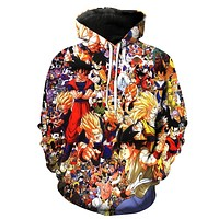 Dragon Ball Z Collage Hoodie