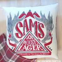 Supernatural - Sam Winchester Pillow Cover - Hand Printed and Sewn