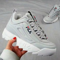 FILA Fashionable Women Men Casual Running Sport Shoes Sneakers