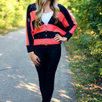 Campus Chic Sweater - Navy