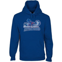 UMass Lowell River Hawks Distressed Primary Pullover Hoodie - Royal Blue