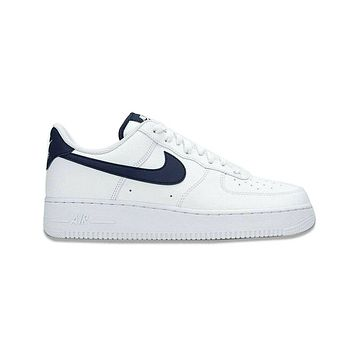 Nike Men's Air Force 1 '07 Low White Midnight Navy