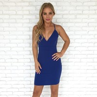 Adore You Dress in Royal Blue