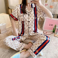 GG womens new short-sleeved trousers sexy home service suit two-piece suit pajamas