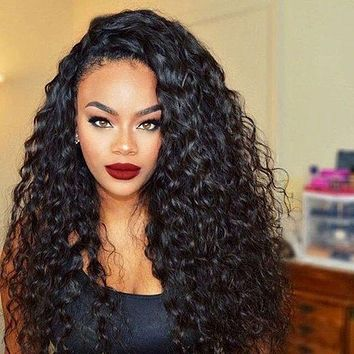 New style small curly long curly hair ladies high temperature chemical fiber wig
