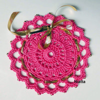 Doily Gold Beads Jar Lid Cover Favors Pouch Weddings Christenings Niatta