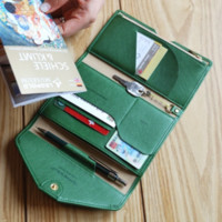 All-in-One Slim Leather Clutch