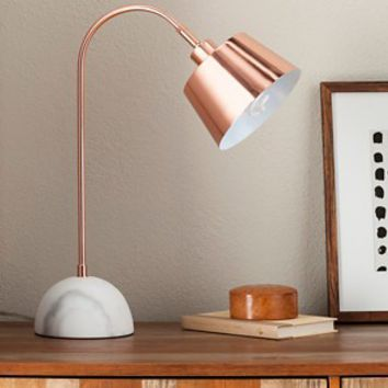Copper Task Lamp with White Marble Base (include... : Target